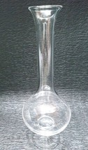 "VINTAGE GLASS FLUTE VASE~CLEAR GLASS~13"" TALL flowers plants rose weddin... - $53.68 CAD"