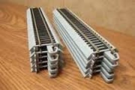 "Bachmann Trains Snap-Fit Nickel Silver E-Z Track 9"" Straight Track - $40.34"