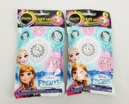 (Lot of 2) illooms Disney Frozen Princess Light Up 5-Pack Balloons 15hr LED  - $9.03