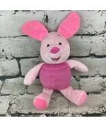 Disney Baby Winnie The Pooh Piglet Plush Rattle Stuffed Crinkle Ears Cri... - $11.88