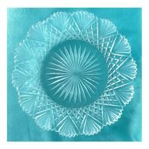 """Hawkes American Brilliant Cut Glass Plate 7 1/4"""" Strawberry Diamond Fan ... - $48.37"""