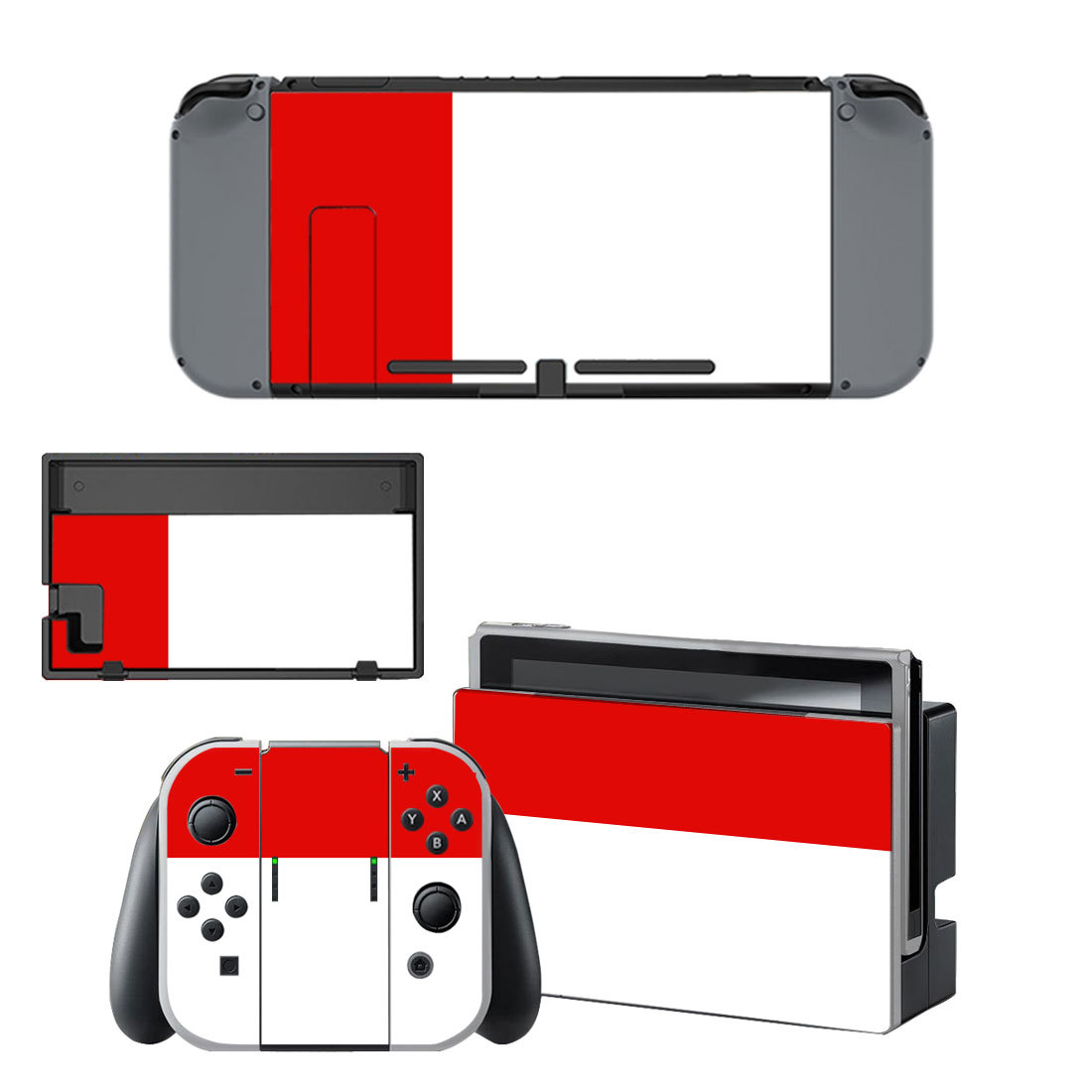 Red Classic decal for Nintendo switch console sticker skin
