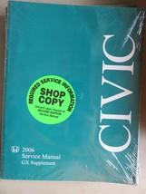 2006 Honda Civic GX Supplement Service Repair Manual Dealership Workshop - $11.05