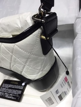 NWT AUTH Chanel 2019 BLACK White Quilted Leather Small Gabrielle Hobo Bag GHW image 4