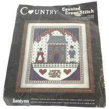 Janlynn Counted Cross Stitch Kit 10 X 12 Home Sweet Home Vintage House &... - $18.99
