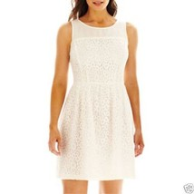 DR Collection Donna Ricco Sleeveless Lace Illusion Dress Size 16 New Msr... - $21.99