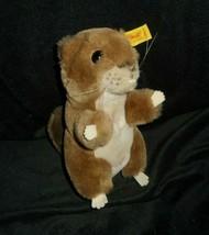 "7"" VINTAGE STEIFF COSY NAGY BROWN BEAVER 5396/17 STUFFED ANIMAL PLUSH TO... - $45.82"