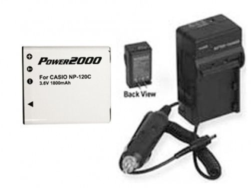 Primary image for Battery + Charger for Casio EXS200 EXS200BK EXS200BE EXZS10PK EXZS10RD EXZS10BK