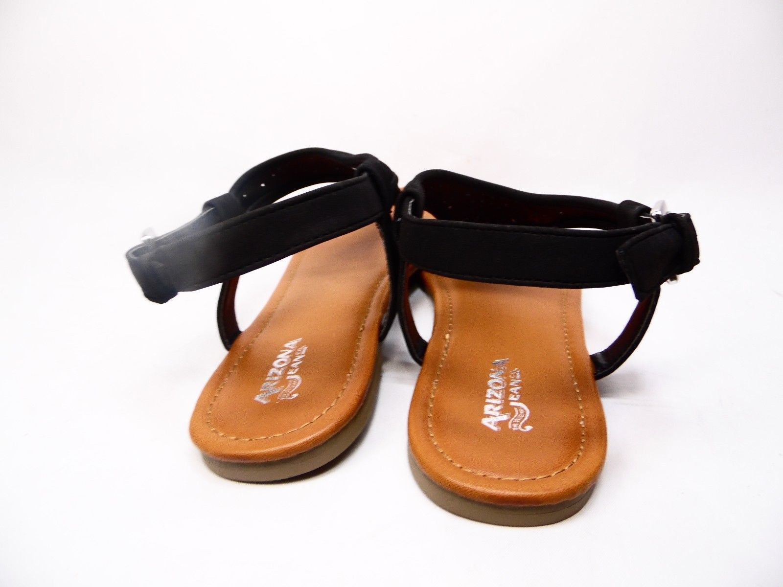 Arizona Sari Womens Flat Sandals Black Size 11M