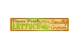 Farm Fresh Lettuce Novelty Mini Street Sign K-705 - $20.99