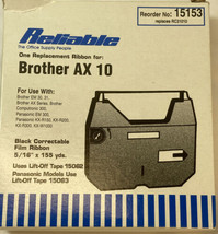 Compatible Correctable Film Ribbon For Brother AX10 Em 30, 31 Panasonic Computro - $8.99