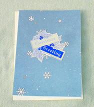 Vintage Inspired Christmas Greeting Handmade Card - Handmade Cards - $4.20