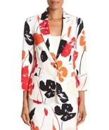 Kasper Valencia Blazer Jacket White Floral Women Sz 4 NEW - $119.00