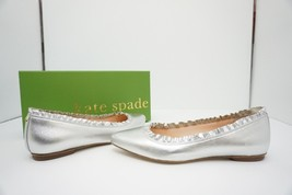 Kate Spade Nicole Women's Slip On Flats Pointed Toe Shoes Silver Metalli... - $106.05