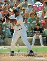 1997 Minnesota Twins Spring Training Magazine Program Kirby Puckett - $14.03