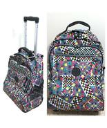 Kipling Sanaa Rolling Backpack Carry On Luggage Bag Geometric EUC Misng ... - $99.95
