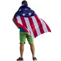 Mens Patriotic Cape July 4th Custome Party Independence Day Teens Easy U... - $30.74