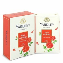FGX-550757 Yardley London Soaps Royal Red Roses Luxury Soap 3.5 Oz For Women  - $16.35