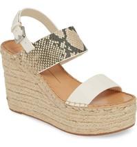 Dolce Vita Spiro Women's Platform Wedge Sandal White Size 6.5 M  - $78.39