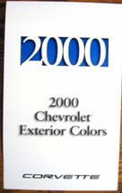 2000 Chevrolet Corvette Color & Trim Paint Chip Brochure- Xlnt Original - $7.12