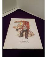 "Emmett Kelly Jr~ 8"" X 10"" Print~ Sleeping At Lion Cage - $5.93"