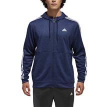 Adidas Men's Full Zip Tech Climawarm Fleece Lined Hoodie, Navy, 2XL - $28.70