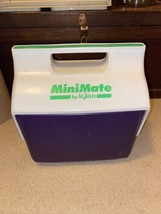 Vintage 1990's Igloo Purple & Neon Green MiniMate By Igloo Cooler Clean Button - $9.89