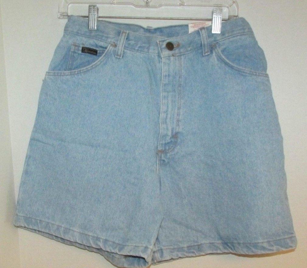 0c3f4ba2e1 Vintage Wrangler NWT 10 light blue wash denim jean shorts high waist USA  made