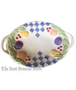 "Treasure Craft USA Hopscotch Pattern Fruit 15"" Oval Serving Platter with... - $29.99"