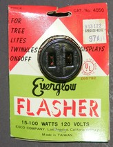 Vintage Everglow Flasher Outlet Plug for Tree Lights Signs Displays - $15.00