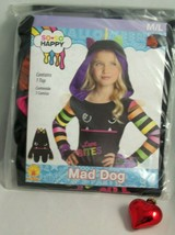 Girls So So Happy MAD DOG Halloween Costume Top - Rubies, Medium/Large -... - $5.93