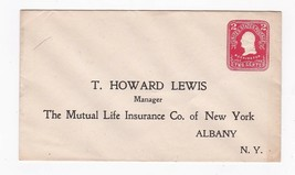 MUTUAL LIFE INSURANCE COMPANY OF NEW YORK VINTAGE UNUSED COVER - $1.78