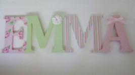 Wood Letters-Nursery Decor- ANY NAME- Custom made to your decor - $12.50