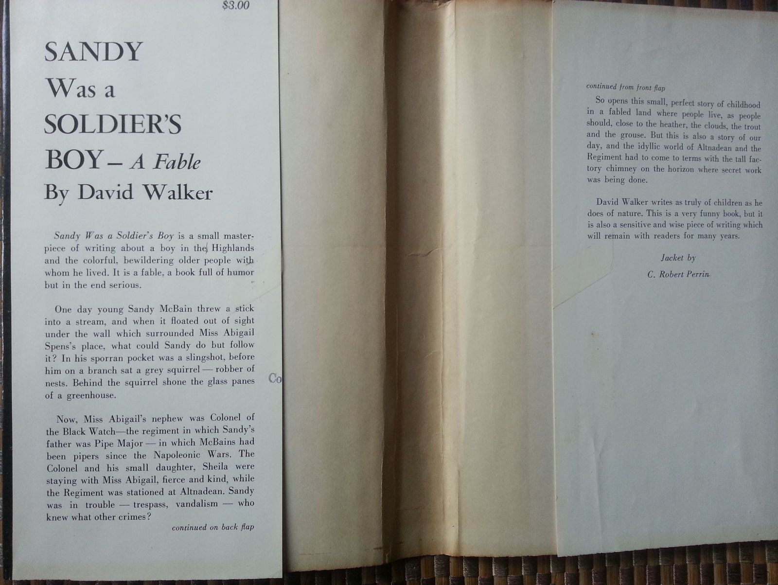 Sandy Was a Soldier's Boy by David Walker 1957 HBDJ  A Fable