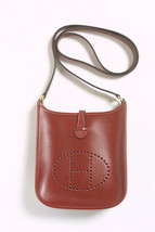 HERMES Evelyne TPM Boxcalf Shoulder Bag Rouge from Japan - $1,919.61