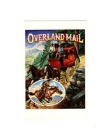 """PICTURE POSTCARD-  """"OVERLAND MAIL"""" - FIRST DAY OF ISSUE-LEGENDS OF THE W... - $2.94"""