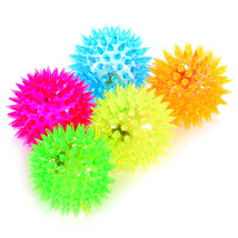 Elastic Spike Ball with LED flash light up for fun/Games with Fastening ... - $4.84