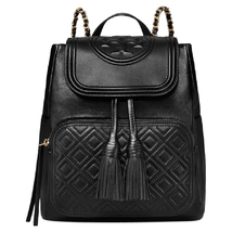 New Tory Burch Fleming Backpack Leather Black Handbag - $398.00