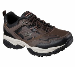 52700 W Wide Fit Brown Skechers shoes Men Memory Foam Sport Train Comfor... - $49.79