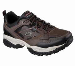 52700 W Wide Fit Brown Skechers shoes Men Memory Foam Sport Train Comfor... - $44.99