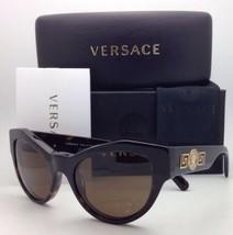 Nuevo Versace Cat Eye Gafas de Sol Ve 4253 108/73 53-19 Havana Marco W/ Marrón