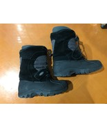 Boys Kids Totes Black Slip-On Winter Hiking Boots 11 - $19.69