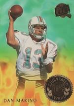 Dan Marino Dolphins 1994 Fleer Ultra Achievement Award Insert #3 Of 10 NM/MT - $1.55
