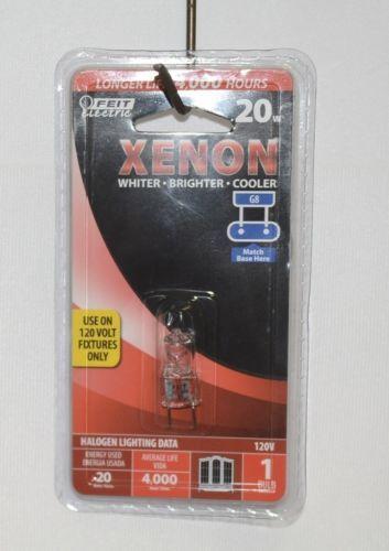 Feit Electric Xenon Halogen 20 Watt 120 Volt G8 Base Light Bulb Packaged