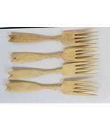 Hand Carved Forks Made of Natural Bovine Bone Set of 4 - $48.51