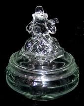 1930's Clown Jester Minstrel Round GLASS POWDER BOX 4-1/2 D x 5' H Not M... - $8.99
