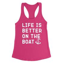 Life is better on the boat, fishing, camping, funny saying, workout grap... - $12.50