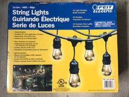 Feit Electric Commercial 48ft 11W Indoor Outdoor 24 Weatherproof String ... - $70.00