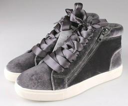 Brand New Women's Sara High Top Grey Velvet Sneakers Mossimo Supply Co image 1