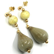 Earrings Antica Murrina Venezia, OR631A57, Hanging, Drop Glass Beige 1 3/16in image 1